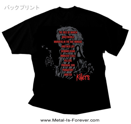 IRON MAIDEN (アイアン・メイデン) KILLERS 「キラーズ」 トラックリスト Tシャツ