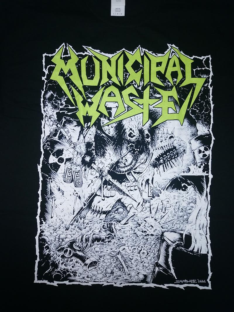 【在庫あり商品商品】MUNICIPAL WASTE -ミュニシパル・ウェイスト- WASTE HUNTER 「ウェイスト・ハンター」 Tシャツ Lサイズ