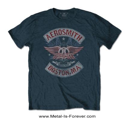 AEROSMITH -エアロスミス- BOSTON PRIDE 「ボストン・プライド」 Tシャツ(デニム・ブルー)