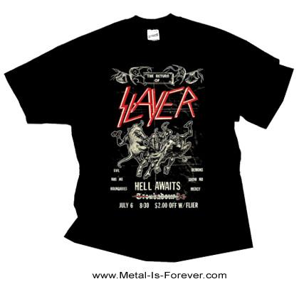 SLAYER -スレイヤー- HELL AWAITS 「ヘル・アウェイツ」 フライヤー Tシャツ