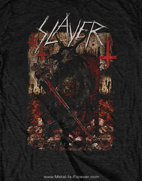 SLAYER -スレイヤー- HELLTHRONE 「ヘルスローン」 2018年ワールド・ツアー Tシャツ