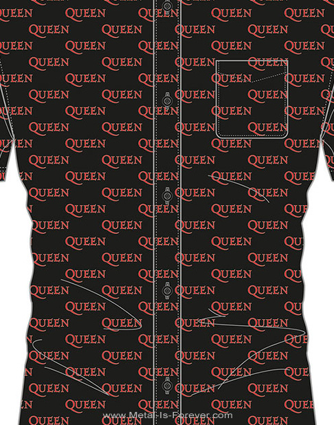 QUEEN (クイーン) LOGO PATTERN 「ロゴ・パターン」 カジュアルシャツ