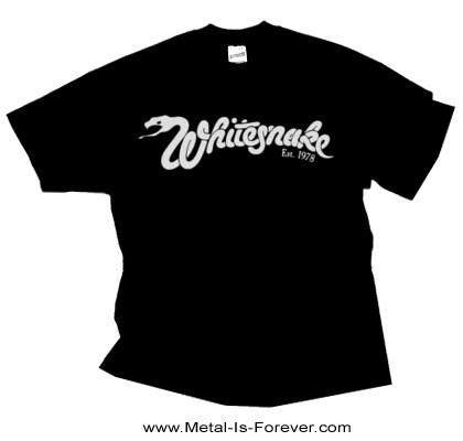WHITESNAKE (ホワイトスネイク) EST 1978 LOGO 「エスト・1978・ロゴ」 Tシャツ