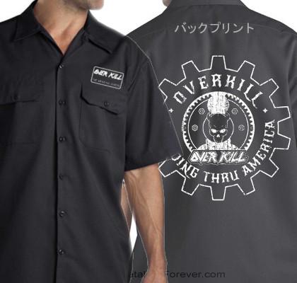 OVERKILL -オーヴァーキル- GEAR LOGO 「ギア・ロゴ」 ワークシャツ
