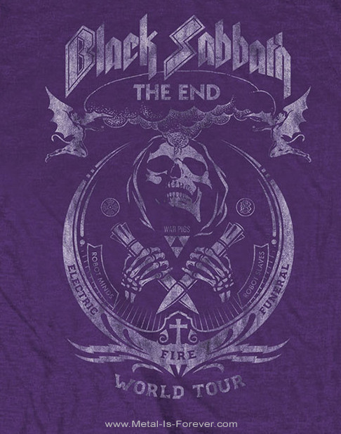BLACK SABBATH (ブラック・サバス) THE END MUSHROOM CLOUD 「ジ・エンド・マッシュルーム・クラウド」 Tシャツ(紫)