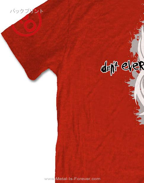 SLIPKNOT (スリップノット) 20TH ANNIVERSARY DON'T EVER JUDGE ME 「ドント・エヴァー・ジャッジ・ミー・20周年」 Tシャツ(赤)