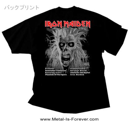 IRON MAIDEN (アイアン・メイデン) IRON MAIDEN 「鋼鉄の処女」 トラックリスト Tシャツ