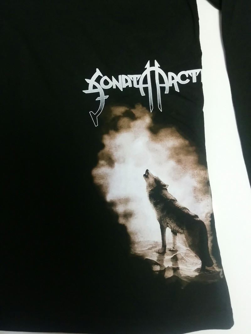 【在庫有り商品】SONATA ARCTICA -ソナタ・アークティカ- HOWLING WOLF  「ハウリング・ウルフ」 レディース長袖Tシャツ(フード付き) Sサイズ