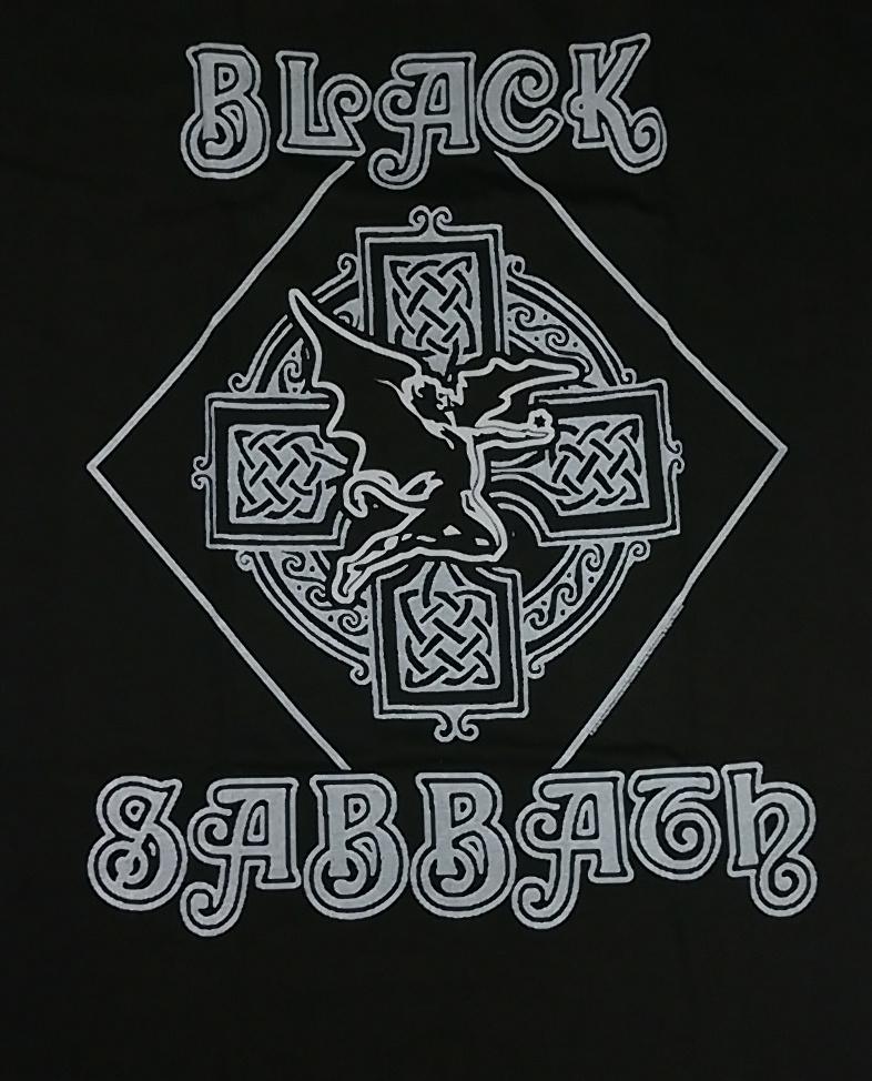 【在庫有り商品】BLACK SABBATH -ブラック・サバス- FALLEN ANGEL LOGO「フォールン・エンジェル・ロゴ」 Tシャツ Mサイズ
