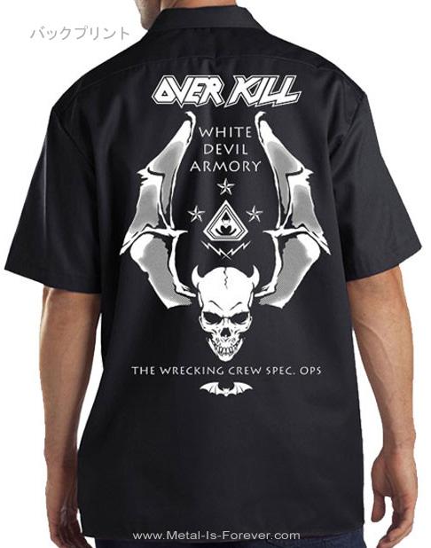 OVERKILL -オーヴァーキル- LOGO BADGE SKULL 「ロゴ・バッジ・スカル」 ワークシャツ