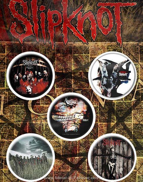 SLIPKNOT (スリップノット) ALBUMS 「アルバム」 バッジセット