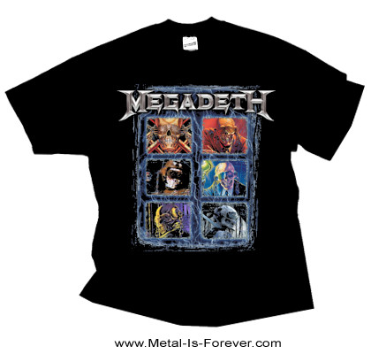 MEGADETH (メガデス) VIC HEAD GRID 「ヴィック・ヘッド・グリッド」 Tシャツ
