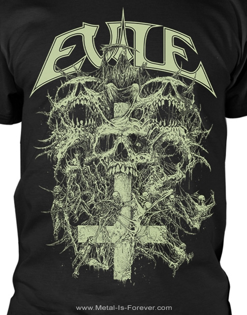 EVILE (イーヴァイル) RIDDICK SKULL 「リディック・スカル」 Tシャツ