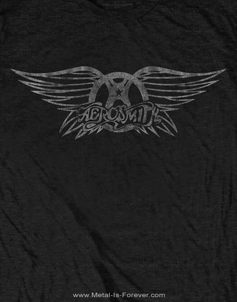 AEROSMITH -エアロスミス-VINTAGE LOGO 「ヴィンテージ・ロゴ」 レディースTシャツ