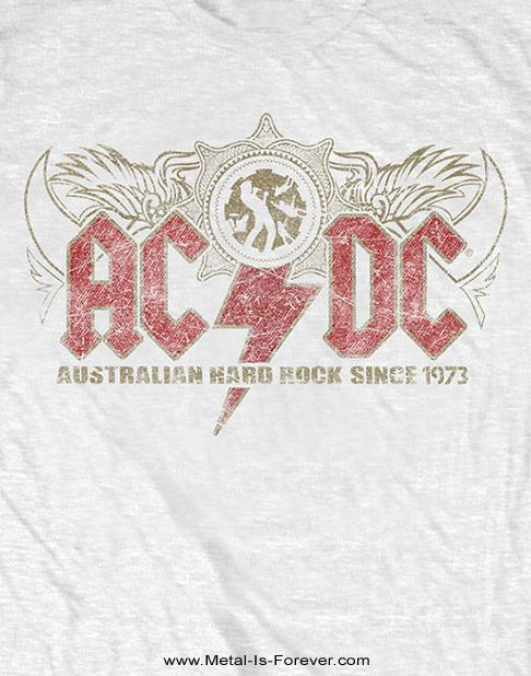 AC/DC -エーシー・ディーシー- OZ ROCK 「オズ・ロック」 Tシャツ(白)