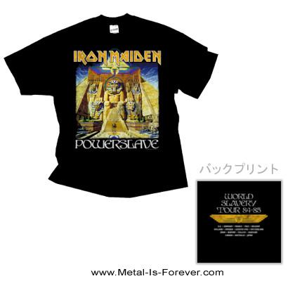 IRON MAIDEN (アイアン・メイデン) POWERSLAVE WORLD SLAVERY TOUR '84 - '85 「パワースレイヴ・ワールド・スレイヴリー・ツアー・'84 - '85」 Tシャツ