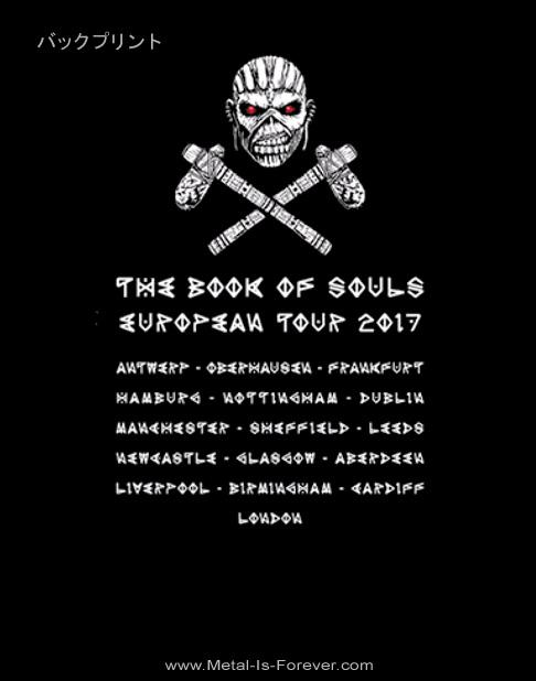 IRON MAIDEN -アイアン・メイデン- THE BOOK OF SOULS「魂の書~ザ・ブック・オブ・ソウルズ~」2017年ヨーロッパ・ツアーTシャツ