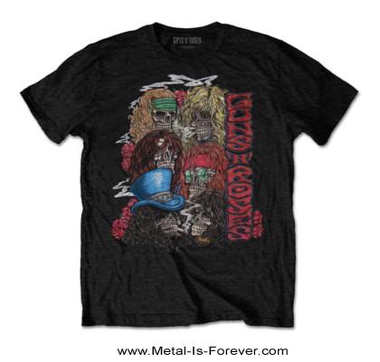 GUNS N' ROSES (ガンズ・アンド・ローゼズ) STACKED SKULLS 「スタック・スカル」 ツアー Tシャツ