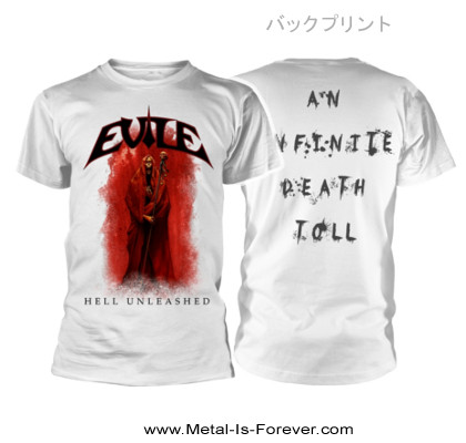 EVILE (イーヴァイル) HELL UNLEASHED 「ヘル・アンリーシュド」 Tシャツ(白)