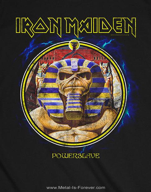 IRON MAIDEN (アイアン・メイデン) POWERSLAVE CIRCLE 「パワースレイヴ・サークル」 ファラオ Tシャツ