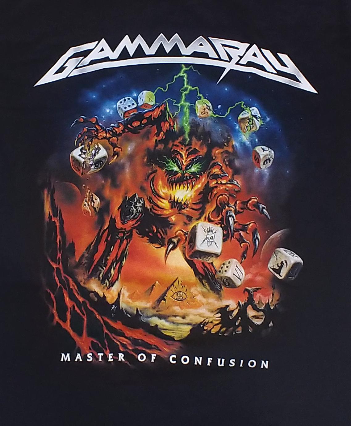 【在庫有り商品】GAMMA RAY -ガンマ・レイ- MASTER OF CONFUSION 「マスター・オブ・コンフュージョン」 Tシャツ Lサイズ【コレクターズアイテム】