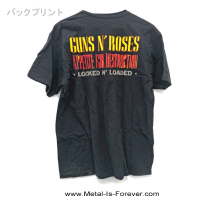 GUNS N' ROSES (ガンズ・アンド・ローゼズ) APPETITE FOR DESTRUCTION BLUE 「アペタイト・フォー・ディストラクション・ブルー」 Tシャツ