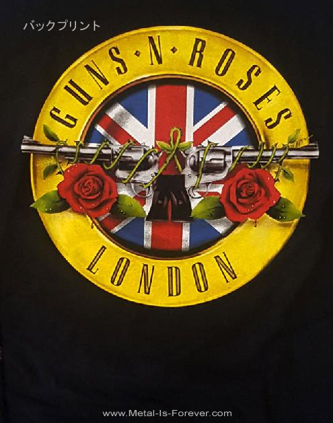 GUNS N' ROSES (ガンズ・アンド・ローゼズ) LIVE IN LONDON 「ライヴ・イン・ロンドン」 長袖Tシャツ