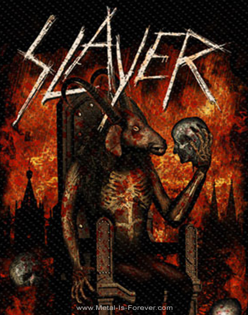 SLAYER (スレイヤー) DEVIL ON THRONE 「デヴィル・オン・スローン」 ワッペン