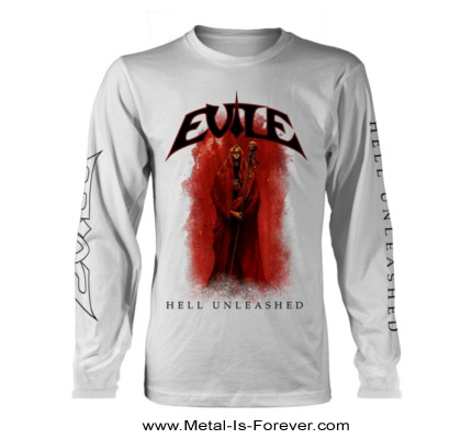 EVILE (イーヴァイル) HELL UNLEASHED 「ヘル・アンリーシュド」 長袖Tシャツ(白)