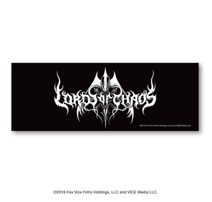 LORDS OF CHAOS 「ロード・オブ・カオス」 エンブレムロゴ 漆黒のタオル