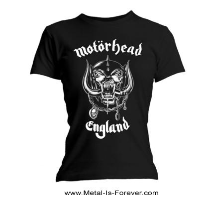 MOTORHEAD -モーターヘッド- ENGLAND 「イングランド」 レディースTシャツ(バックプリントなし)