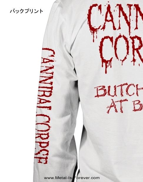 CANNIBAL CORPSE -カンニバル コープス- BUTCHERED AT BIRTH 「斬鬼〜ブッチャード・アット・バース」 長袖Tシャツ(白)