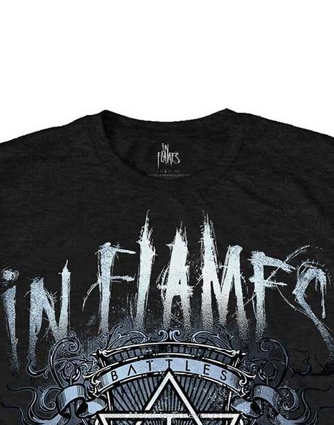 IN FLAMES (イン・フレイムス) BATTLES CREST 「バトル・クレスト」 Tシャツ