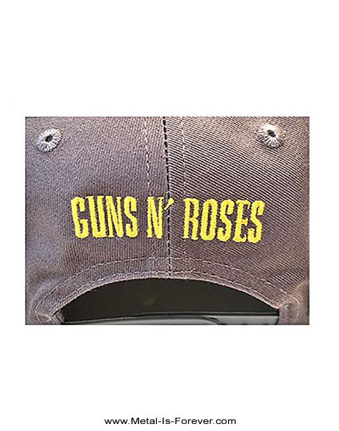 GUNS N' ROSES (ガンズ・アンド・ローゼズ) CIRCLE LOGO 「サークル・ロゴ」 ツートーン ベースボールキャップ(グレー/ネイビー・ブルー)