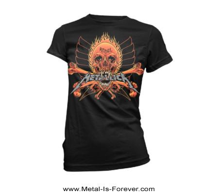 METALLICA -メタリカ- REBEL 「レベル」 レディースTシャツ