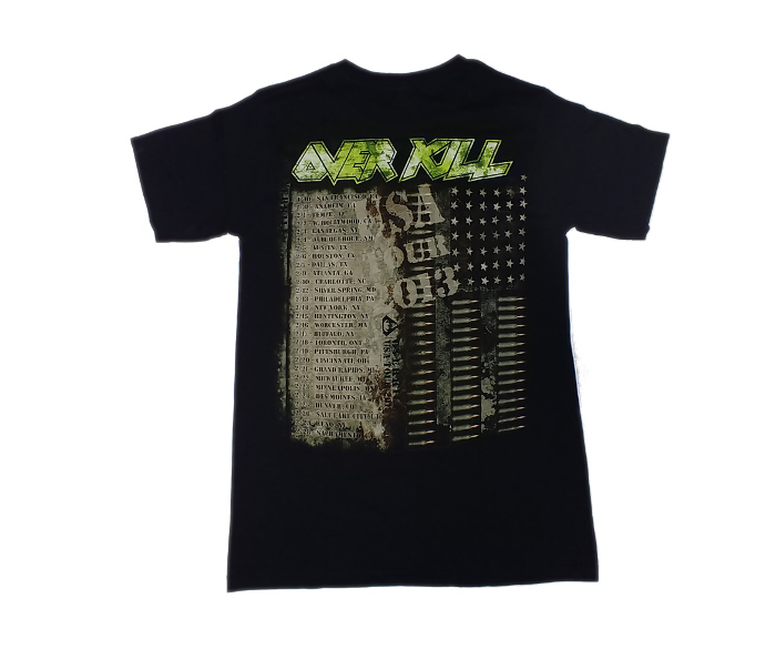 【在庫有り商品】OVERKILL -オーヴァーキル- BULLET SKULL 「ブレット・スカル」 Tシャツ Sサイズ