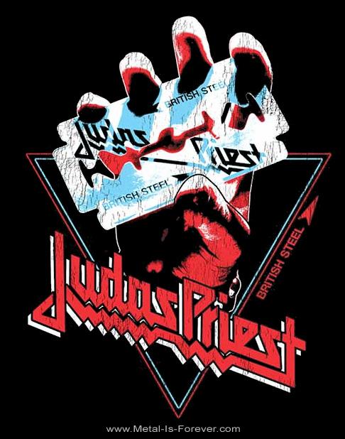 JUDAS PRIEST -ジューダス・プリースト- BRITISH STEEL HAND TRIANGLE 「ブリティッシュ・スティール・ハンド・トライアングル」 Tシャツ