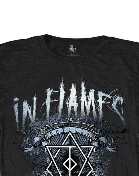 IN FLAMES (イン・フレイムス) BATTLES CREST 「バトル・クレスト」 レディースTシャツ