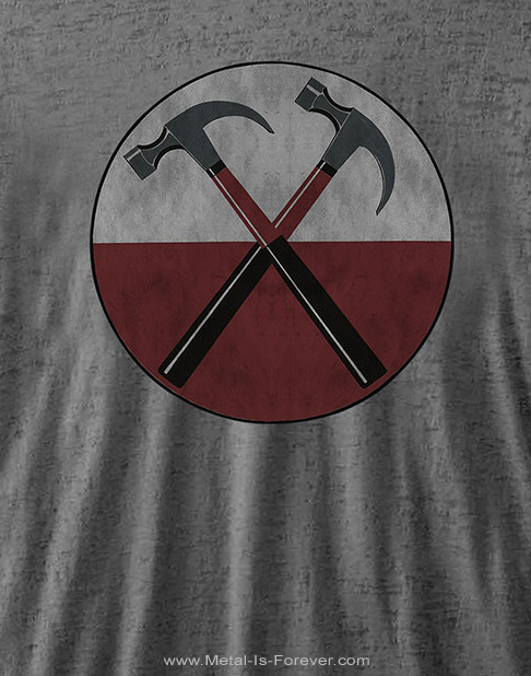 PINK FLOYD (ピンク・フロイド) THE WALL HAMMERS 「ザ・ウォール・ハンマーズ」 バーンアウト Tシャツ(チャコール・グレー)