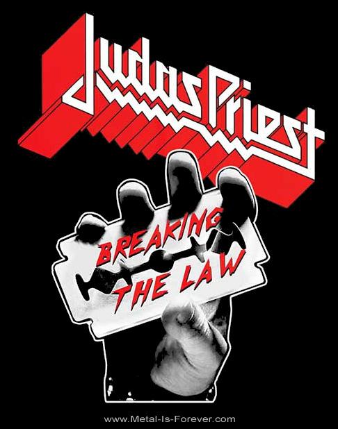 JUDAS PRIEST -ジューダス・プリースト- BREAKING THE LAW 「ブレイキング・ザ・ロウ」 Tシャツ