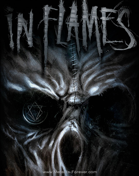IN FLAMES (イン・フレイムス) GHOST 「ゴースト」 布製ポスター