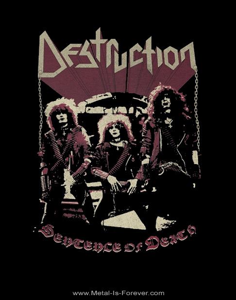 DESTRUCTION (デストラクション) SENTENCE OF DEATH 「センテンス・オブ・デス」 ヴィンテージ風 Tシャツ