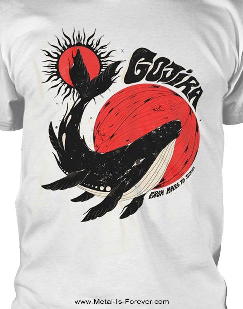 GOJIRA (ゴジラ) WHALE SUN MOON 「ホエール・サン・ムーン」 Tシャツ(白)
