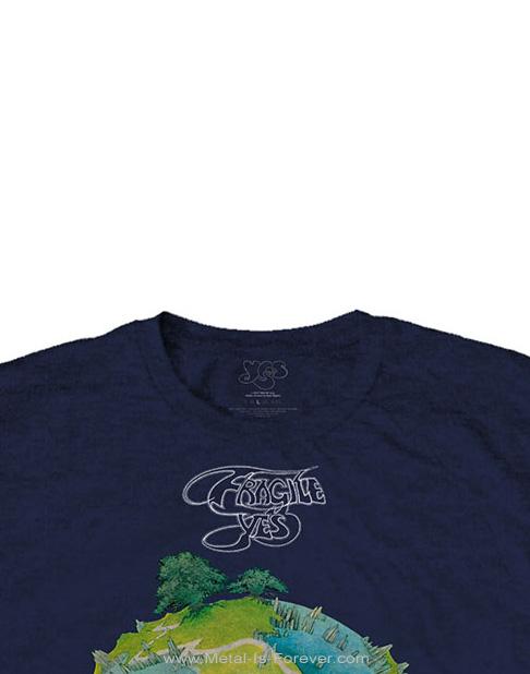 YES (イエス) FRAGILE 「こわれもの」 Tシャツ(ネイビーブルー)