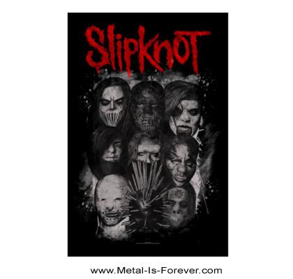 SLIPKNOT (スリップノット) MASKS 「マスク」 布製ポスター