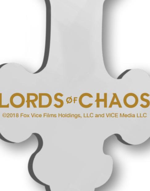 LORDS OF CHAOS 「ロード・オブ・カオス」 ユーロニモス着用クロス型メタルキーホルダー