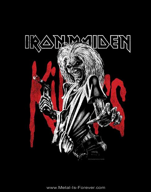 IRON MAIDEN (アイアン・メイデン) KILLERS 「キラーズ」 ラージ・ディストレス Tシャツ
