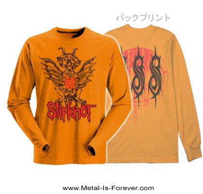SLIPKNOT (スリップノット) WINGED DEVIL 「ウイング・デヴィル」 長袖Tシャツ(オレンジ)