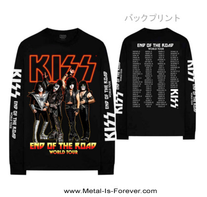 KISS (キッス) END OF THE ROAD TOUR 「エンド・オブ・ザ・ロード・ツアー」 長袖Tシャツ