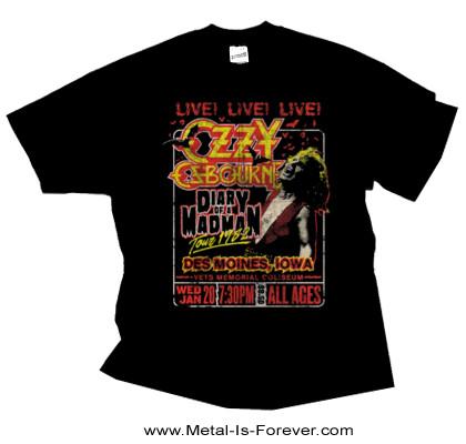 OZZY OSBOURNE -オジー・オズボーン- DIARY OF A MADMAN 「ダイアリー・オブ・ア・マッドマン」 1982年ツアー Tシャツ